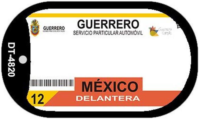 Guerrero Mexico Blank Background Novelty Metal Dog Tag Necklace DT-4820