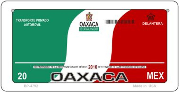Oaxaca Mexico Blank Background Novelty Metal Bicycle Plate BP-4792