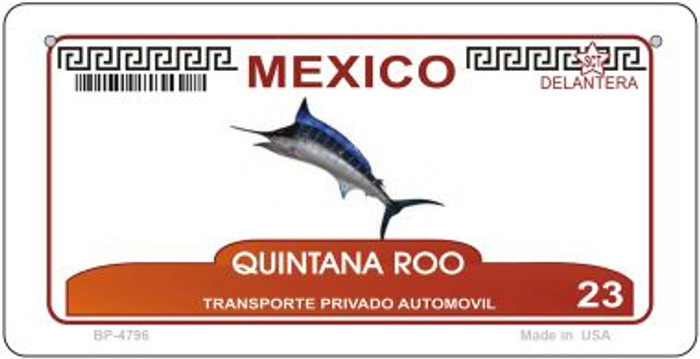 Quintana Roo Mexico Blank Background Novelty Metal Bicycle Plate BP-4796