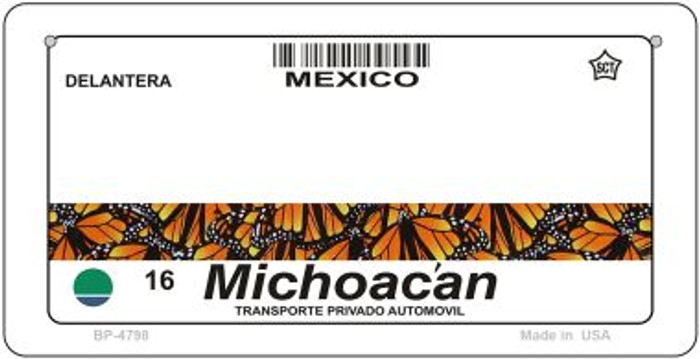 Michoacan Mexico Blank Background Novelty Metal Bicycle Plate BP-4768