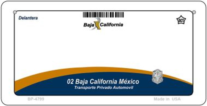 Baja California Mexico Blank Background Novelty Metal Bicycle Plate BP-4799