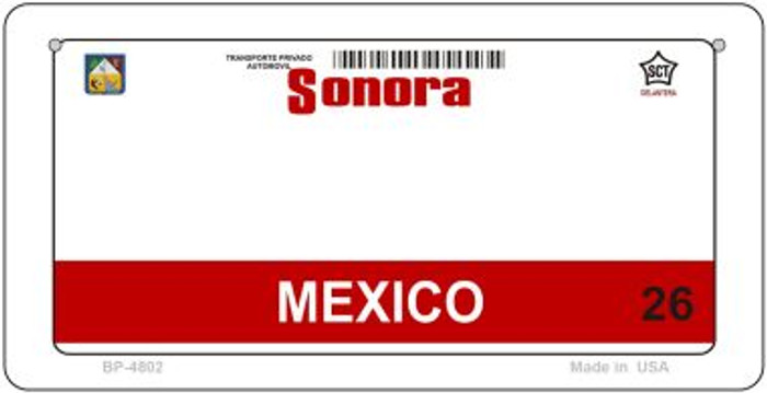 Sonora Mexico Blank Background Novelty Metal Bicycle Plate BP-4802
