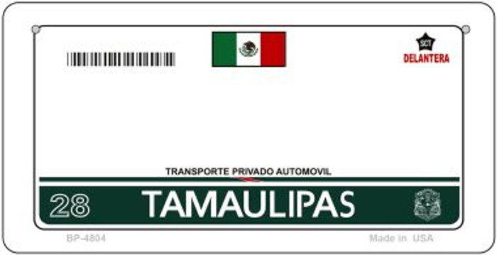 Tamaulipas Mexico Blank Background Novelty Metal Bicycle Plate BP-4804