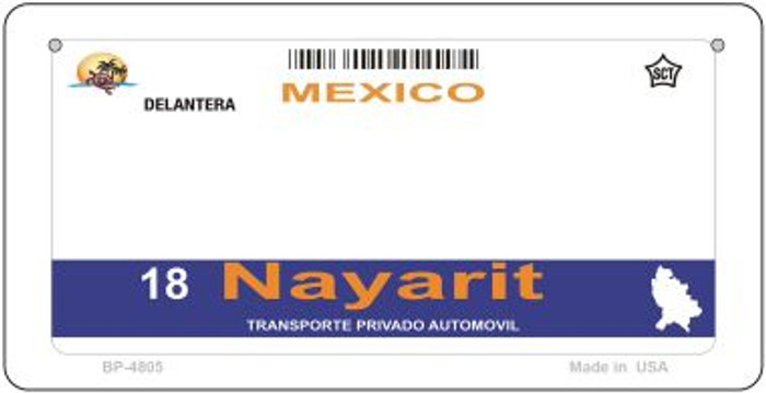 Nayarit Mexico Blank Background Novelty Metal Bicycle Plate BP-4805