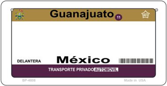 Guanajuato Mexico Blank Background Novelty Metal Bicycle Plate BP-4808