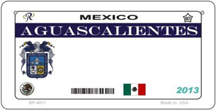 Aguascalientes Mexico Blank Background Novelty Metal Bicycle Plate BP-4811