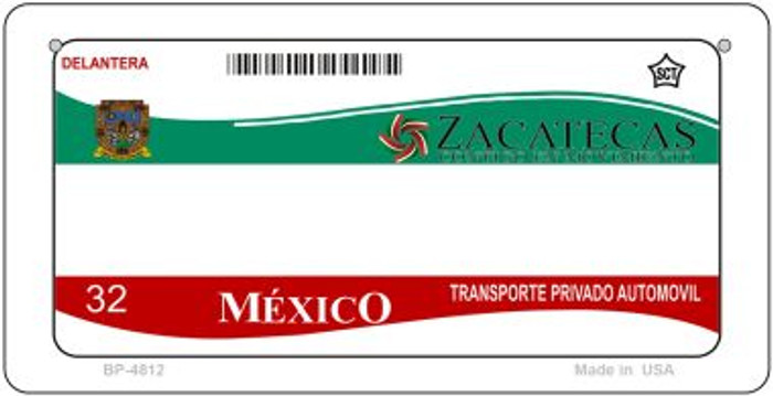 Zacatecas Mexico Blank Background Novelty Metal Bicycle Plate BP-4812