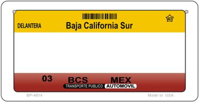 Baja California Sur Mexico Blank Background Novelty Metal Bicycle Plate BP-4814