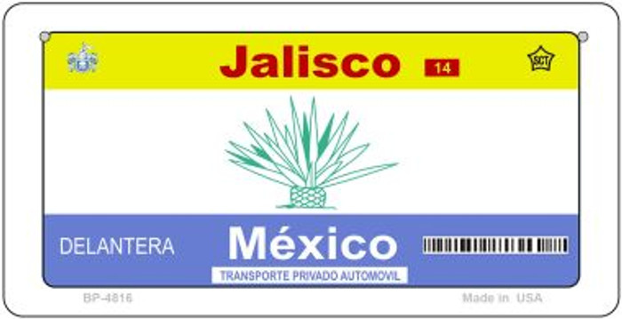 Jalisco Mexico Blank Background Novelty Metal Bicycle Plate BP-4816
