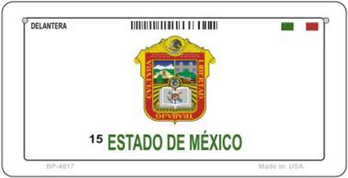 Estado De Mexico Mexico Blank Background Novelty Metal Bicycle Plate BP-4817