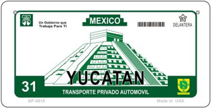 Ycatan Mexico Blank Background Novelty Metal Bicycle Plate BP-4818