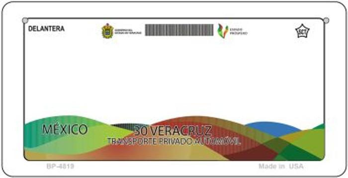 Veracruz Mexico Blank Background Novelty Metal Bicycle Plate BP-4819