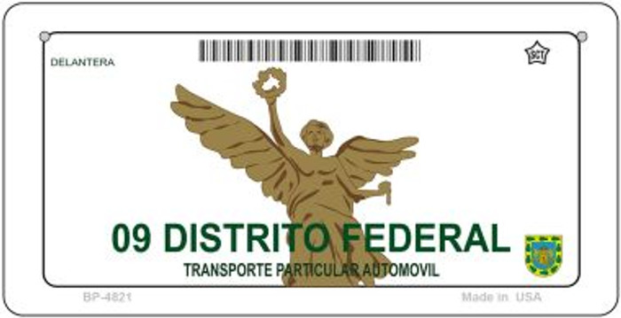 Distrito Federal Mexico Blank Background Novelty Metal Bicycle Plate BP-4821