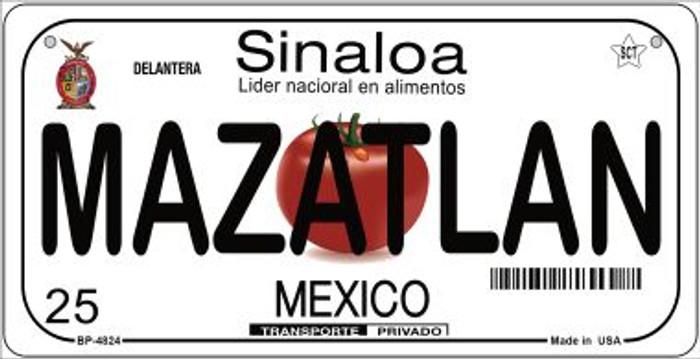 Mazatlan Mexico Novelty Metal Bicycle Plate BP-4824