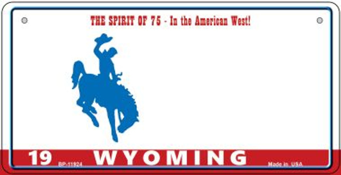 Wyoming State Background Blank Novelty Metal Bicycle Plate BP-11924