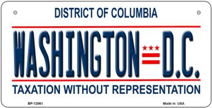 District Of Columbia State Background Novelty Metal Bicycle Plate BP-12061