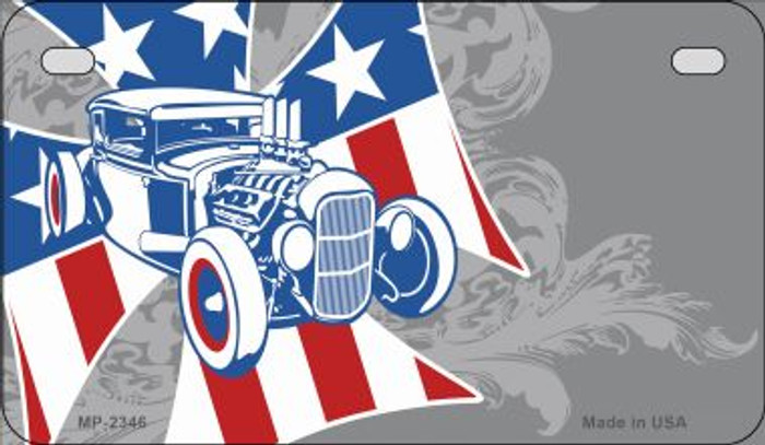American Roadster Offset Novelty Metal Motorcycle Plate MP-2346