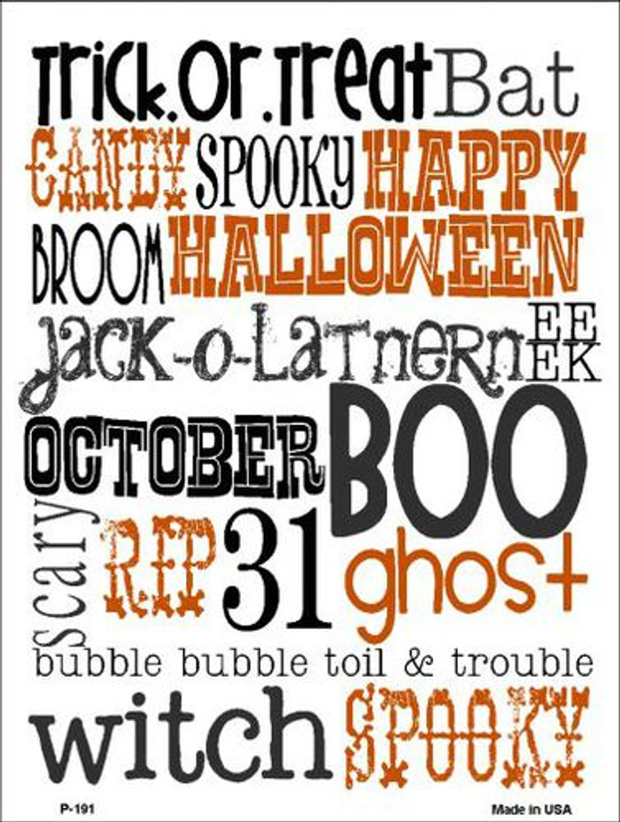 Halloween Sign Metal Novelty Parking Sign P-191