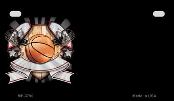 Basketball Banner Offset Novelty Metal Motorcycle Plate MP-3790