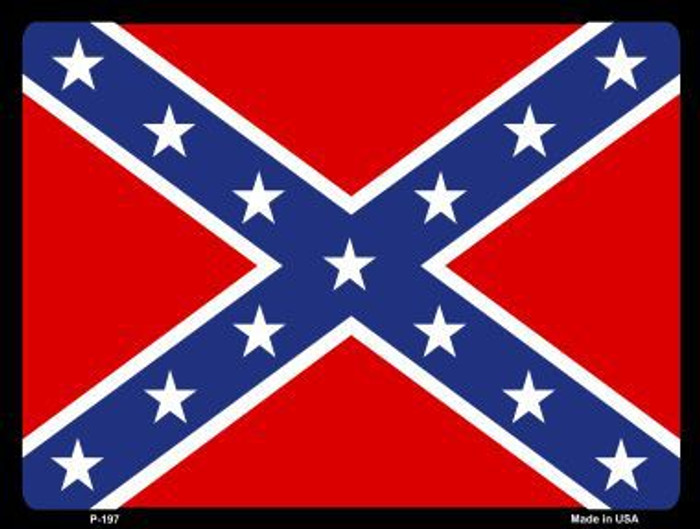 Confederate Flag Metal Novelty Parking Sign P-197