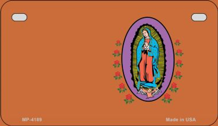 Virgin Mary Copper Offset Novelty Metal Motorcycle Plate MP-4189