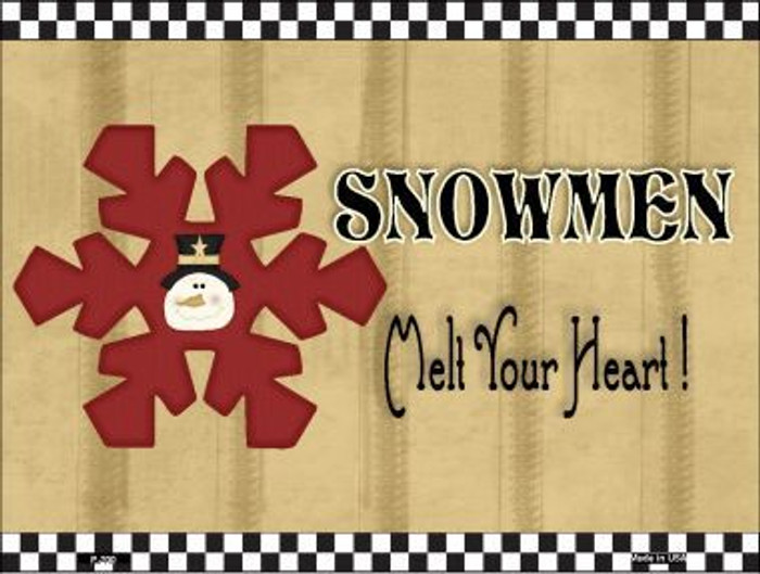 Snowflake Snowmen Metal Novelty Parking Sign P-200