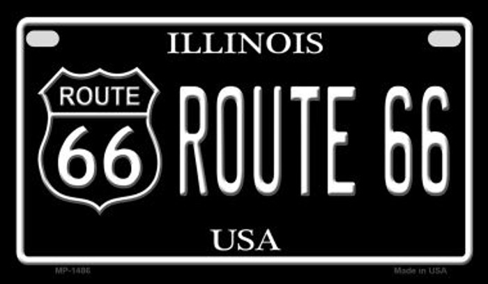 Route 66 Illinois Novelty Metal Motorcycle Plate MP-1486