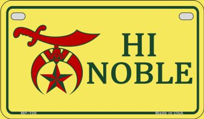 High Noble Novelty Metal Motorcycle Plate MP-108