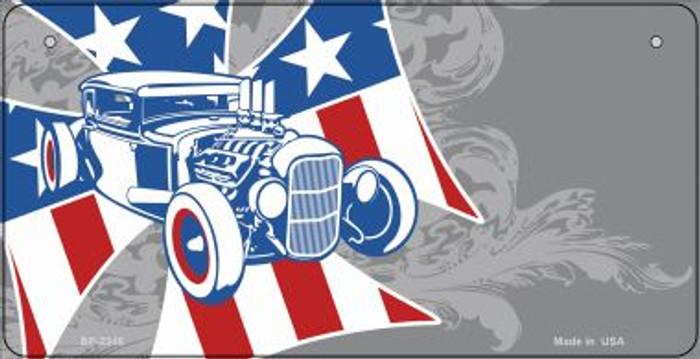 American Roadster Offset Novelty Metal Bicycle Plate BP-2346