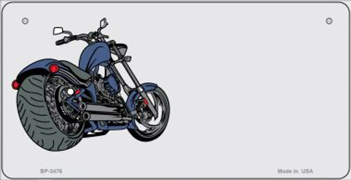 Motorcycle Offset Novelty Metal Bicycle Plate BP-3476