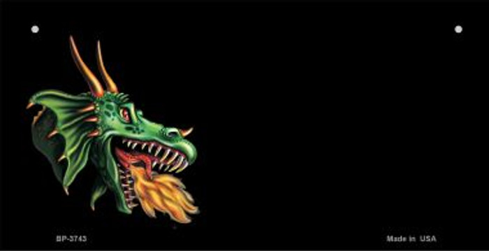 Dragon Offset Novelty Metal Bicycle Plate BP-3743