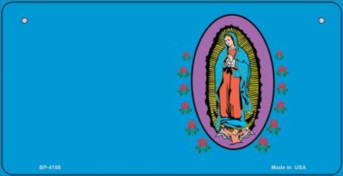 Virgin Mary Blue Offset Novelty Metal Bicycle Plate BP-4188
