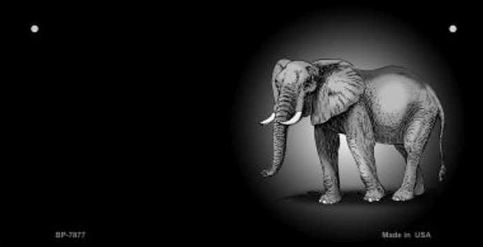 Elephants Offset Novelty Metal Bicycle Plate BP-7877