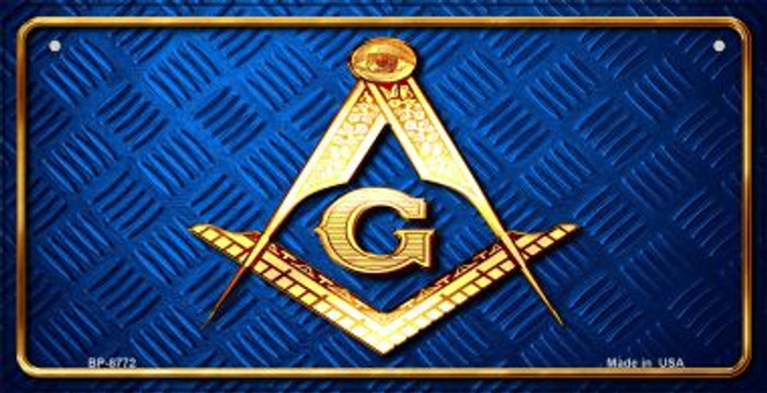 Freemasonry Novelty Metal Bicycle Plate BP-8772