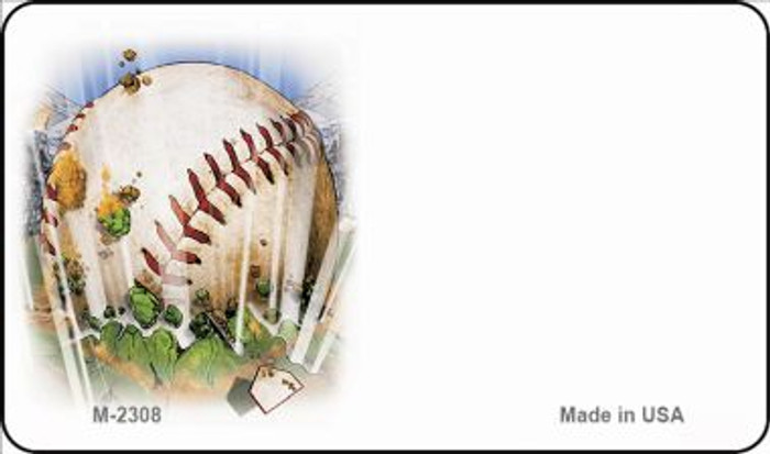 Baseball Offset Novelty Metal Magnet M-2308