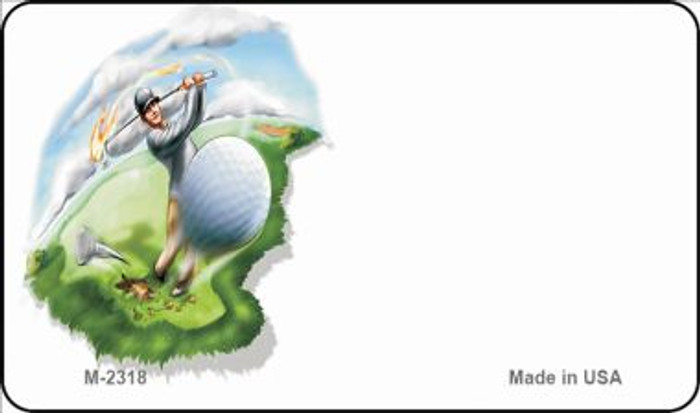 Golf Offset Novelty Metal Magnet M-2318