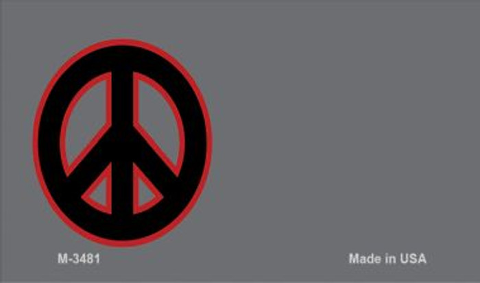 Peace Offset Novelty Metal Magnet M-3481