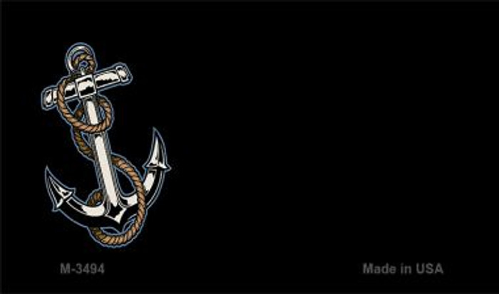 Anchor Offset Novelty Metal Magnet M-3494