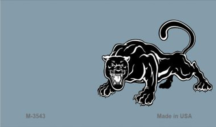 Panther Offset Novelty Metal Magnet M-3543