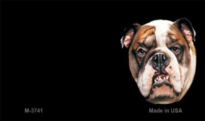 Bull Dog Offset Novelty Metal Magnet M-3741