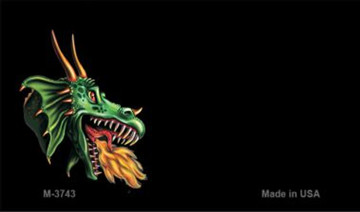 Dragon Offset Novelty Metal Magnet M-3743