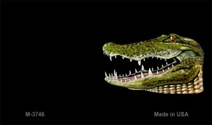 Gator Offset Novelty Metal Magnet M-3746