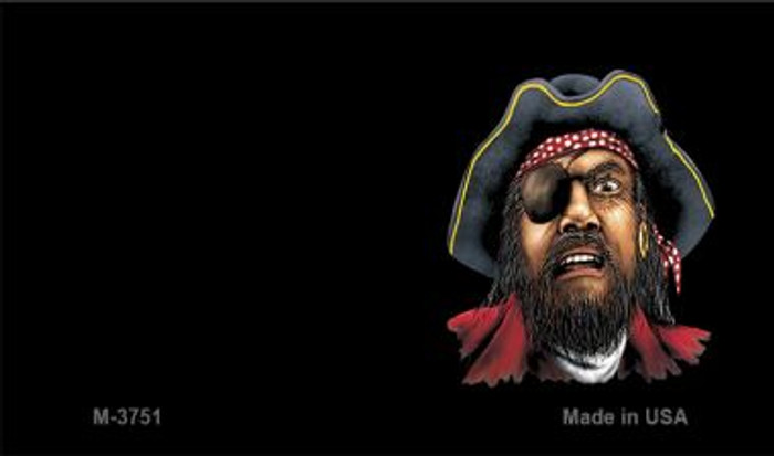 Pirate Offset Novelty Metal Magnet M-3751