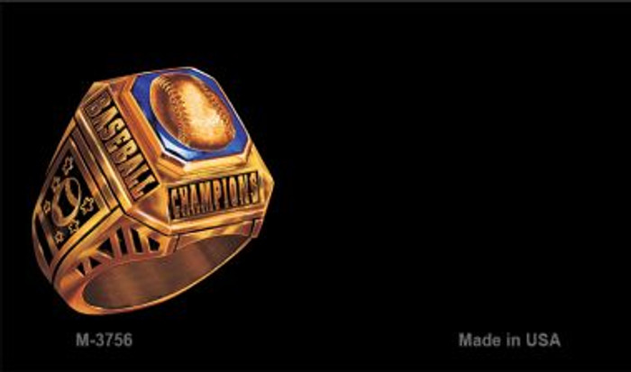 Baseball Champion Ring Offset Novelty Metal Magnet M-3756