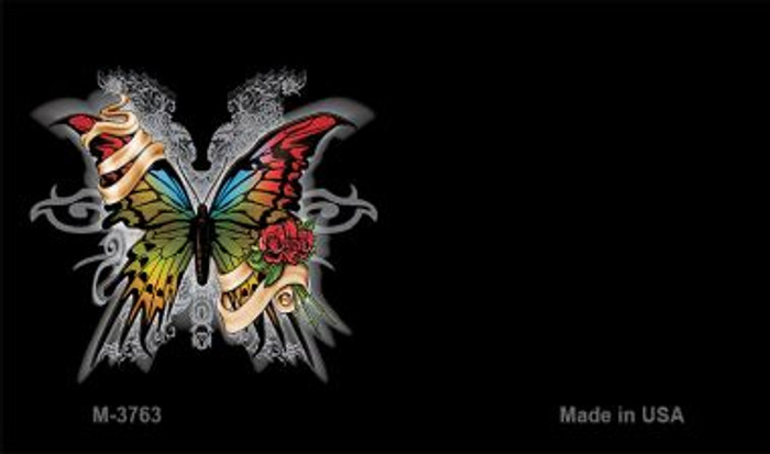 Butterfly Offset Novelty Metal Magnet M-3763