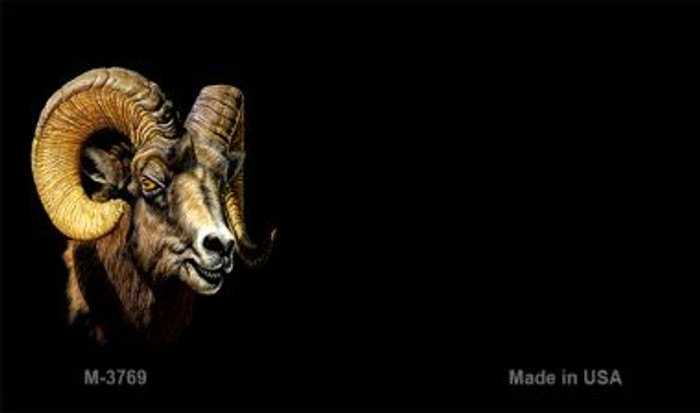 Big Horn Sheep Offset Novelty Metal Magnet M-3769