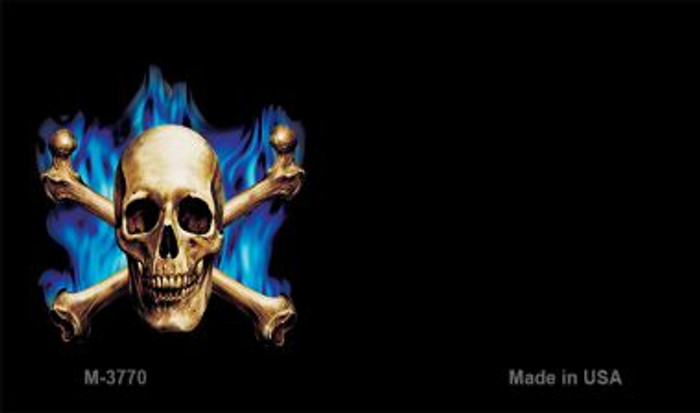 Skull Offset Novelty Metal Magnet M-3770