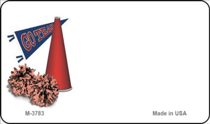Pom and Cheer Offset Novelty Metal Magnet M-3783