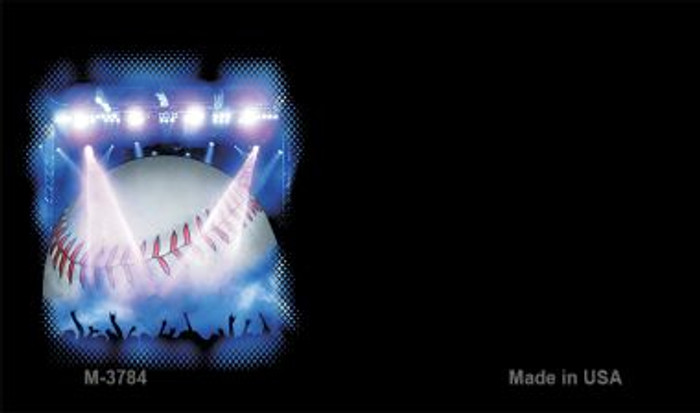 Baseball Offset Novelty Metal Magnet M-3784