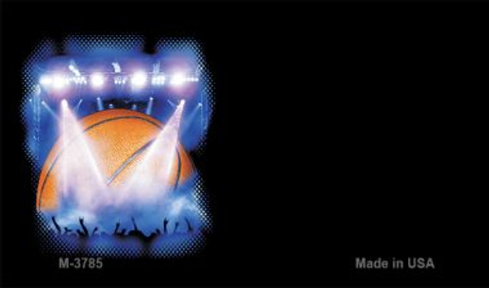 Basketball Offset Novelty Metal Magnet M-3785